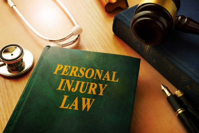 personal injury law book on table