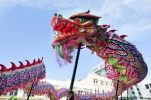 Chinese dragon during Chinese New Year