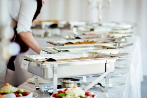 catering at wedding event