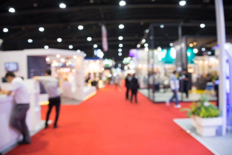 blurred photo of a trade show event