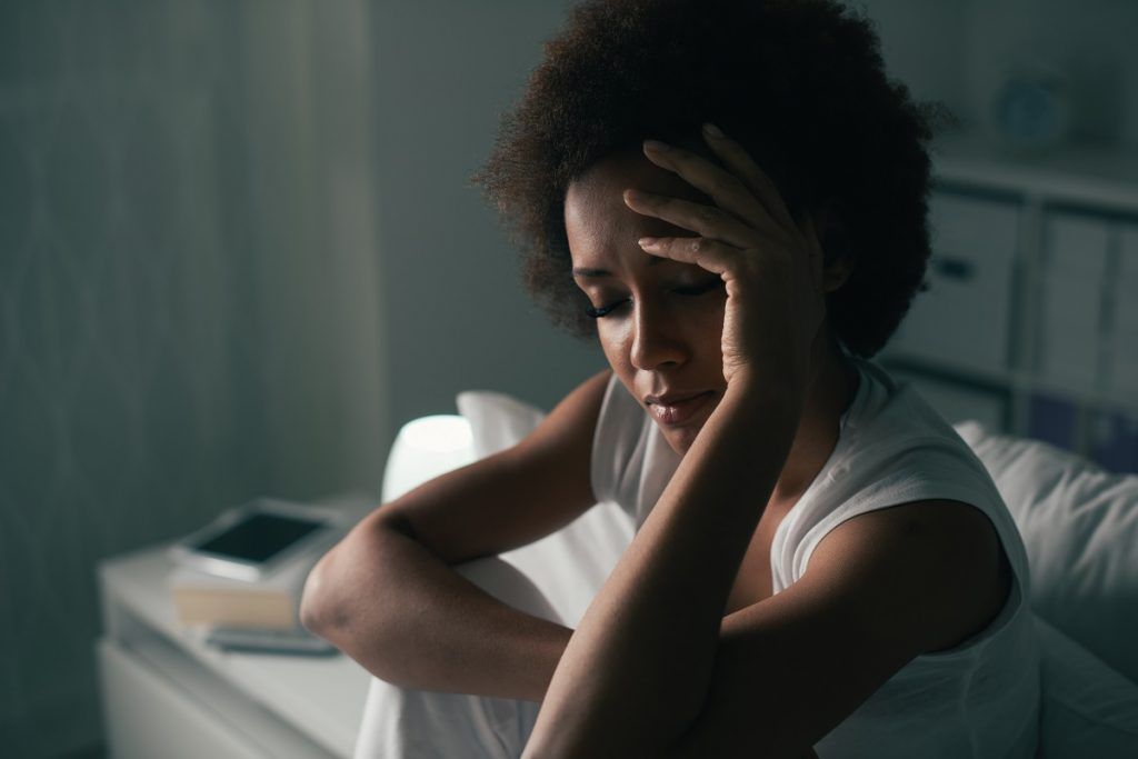 woman feeling depressed