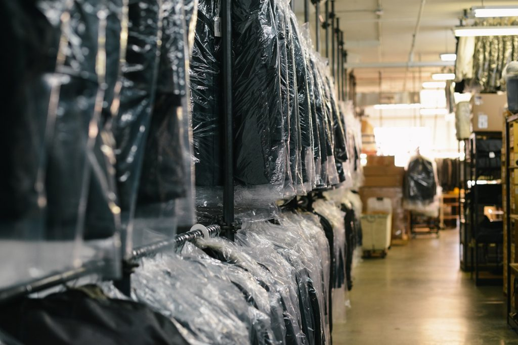 Dry cleaning suits
