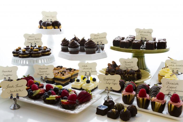 pastries on display