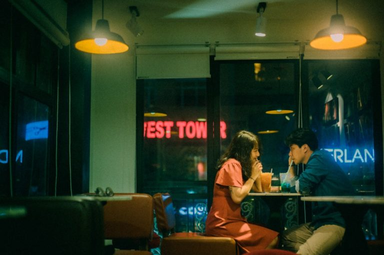 two people on a date